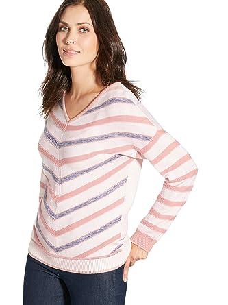 3965f24830c39 Balsamik - Pull à rayures chevrons - femme: Amazon.fr: Vêtements et  accessoires