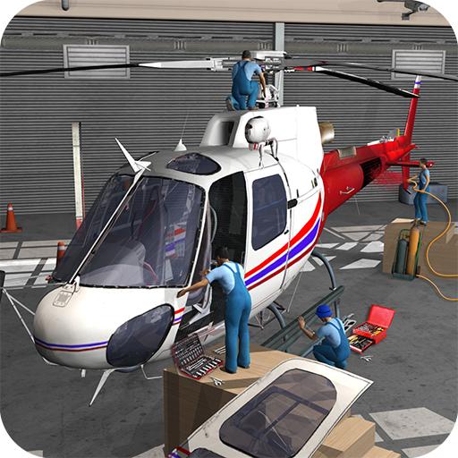 Flugzeug Reparatur Werkstatt Garage 2019: Flugzeuge Mechaniker Simulator Spiele Kostenlos für Kinder -