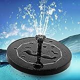 Aidodo Fontaine Solaire pour Bassin avec Panneau Solaire 3,5 W 1500 mAh Batterie intégrée Pompe à Eau Solaire Flottante Pompe