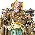 Arte Sacra di Claudio Riso – Statuina di Uomo con Fascina di Legno. Realizzata in cartapesta e Terracotta. Artigianato...