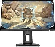 HP 24x Monitor Gaming TN, Schermo 24 Pollici FHD, Risoluzione 1920x1080, Altoparlanti Integrati, Tecnologia AMD FreeSync, Te