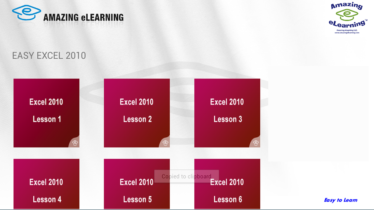 how to learn excel 2010 fast