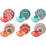 Villa d'Este Home Tivoli - Shiraz - Service de Table en Porcelaine/grès - Multicolore - 18 pièces