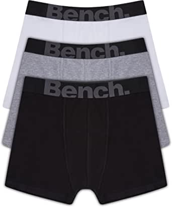 Bench Men's 3 Pack Assorted Colour, Classic Fit, Cotton Stretch Boxers