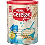 Nestle Cerelac Infant Cereal Baby Food Rice, Tin Pack, 400g