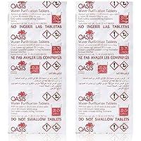 Wicked Chili Oasis 20 Stück Wasser Reiniger Tabletten für Waterrower Tank und Wasserrudergeräte, Chlortablette gegen Algenbildung, Water Purification Tablet (3-4 Jahresbedarf, 20-25L, 167mg NaDCC)