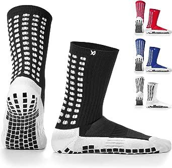 LUX Anti Slip Football Socks,Non Slip Football/Basketball/Hockey Sports Grip Socks…