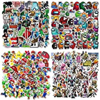 200Pcs Gaming autocollants Set Mine-Craft stickers, Super Mario, Among Us , Fort_nite Sticker Pack (50 pieces per style…