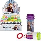 ColorBaby - Caja de 36 pomperos, pomperos Frozen, pomperos para niños, juguete burbujas jabón, jabón pompero, regalo para niñ