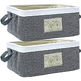 HomeStorie® Eco-Friendly Foldable Storage Basket Bins Organizer, Medium - Set of 2 (AR1731-M*2)