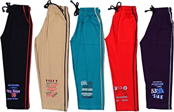 1ly Cargos Boys Full Pant, 5pcs pack with five different color