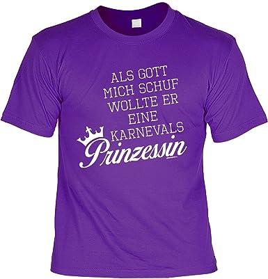 Karneval Frauensprüche Tshirt Lustige Sprüche : Als Gott Mich Schuf U2026.  Karnevals Prinzessin    Fasching Jecken Narren: Amazon.de: Bekleidung