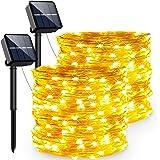 Guirnaldas Luces Exterior Solar, PVC Led Solares Exteriores Jardin 240 LED Y 8 Modos Cadena de Luces Ip65-Impermeabile para N