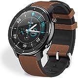 Fullmosa Smartwatch Mujer Hombre Reloj Inteligente, FW-12 Fitness Tracker con Frecuencia Cardíaca Monitor SoP2, Pulsera Intel