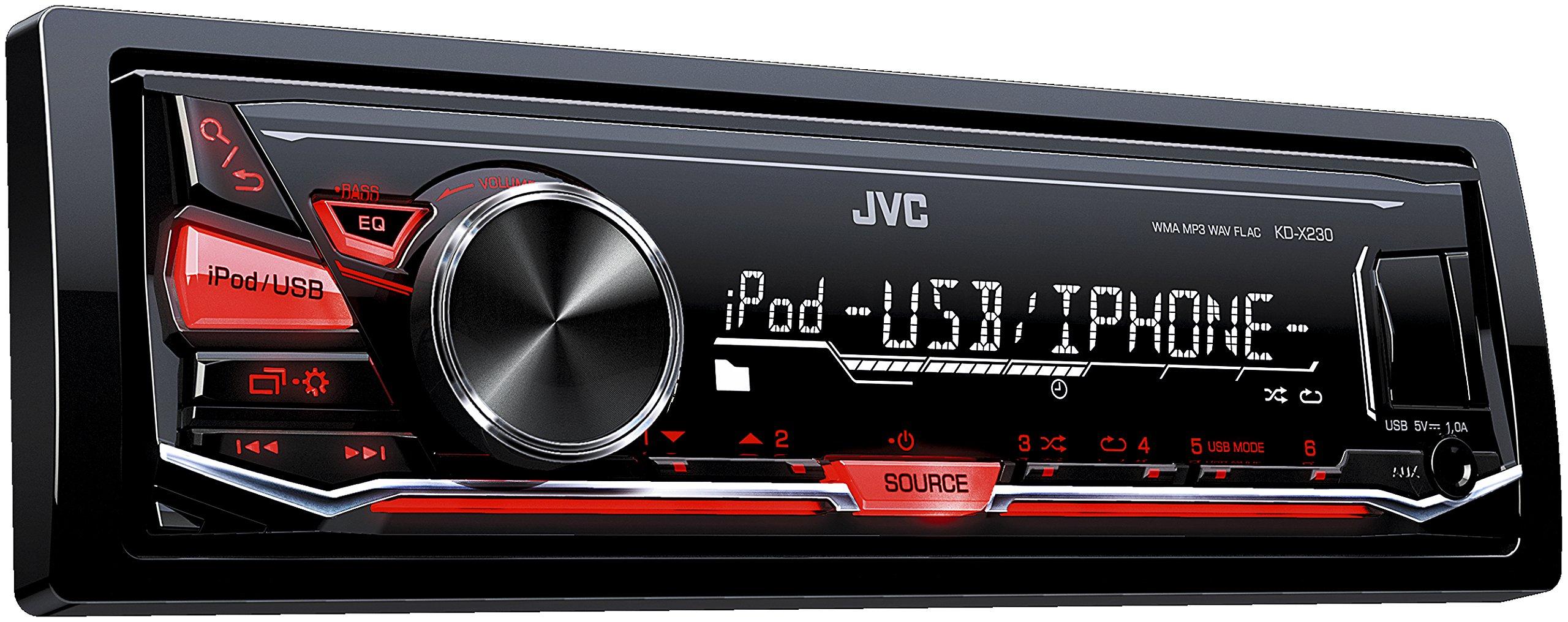 JVC-KD-X230-Digital-Media-Receiver-mit-Front-USB-und-Aux-schwarz