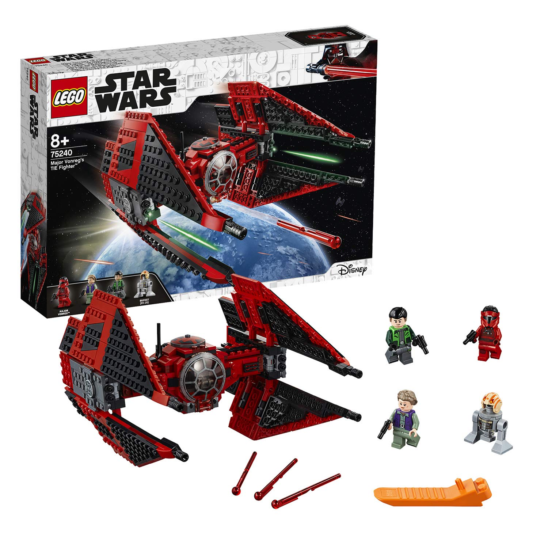 LEGO Star Wars – Caza TIE del Mayor Vonreg, juguete de construcción de Nave Espacial para recrear las Aventuras de La Guerra de las Galaxias , Incluye Minifiguras de Personajes de la Saga (75240)