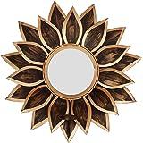 Webelkart Metal Delight Mirror Wall Sconce Tealight Holder (Golden, 16 Inch)