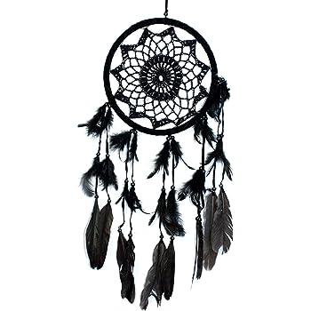 11×48CM Schwarz Dreamcatcher Traumfänger Indianer Träume Geschenk