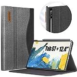 INFILAND Custodia per Samsung Galaxy Tab S7+/ S7 Plus 12.4 2020, Cover Stile Borsette per Samsung Galaxy Tab S7+/ S7 Plus 12.