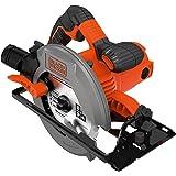 BLACK+DECKER CS1550-QS Scie circulaire filaire - 1500W - 5500 rpm - 2 profondeurs de coupe : 50 et 66 mm - Ø = 190 mm - Poignée avec renfort softgrip - Livrée en coffret