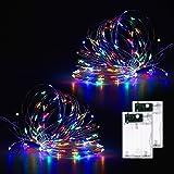 Fulighture Luces LED, Tira led, 10M Dreamcolor Luces LED, 2 modos de iluminación, 100 LED de luz decorativa de alambre platea
