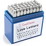 """حقيبة أدوات ختم مخصصة برقم الخط والحروف (36 أختام صغيرة / حروف الأبجدية 0-9 #، """") 1/8 بوصة (3 مم) الحروف والأرقام والرموز - أ"""
