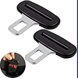 Fermo per Cintura di Sicurezza, Fibbia a Inserto 3 mm di Spessore, Connettore Clip Nero per Cintura Auto Tutte le Marche, Set