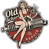 Finest-Folia retro vintage dekal klistermärke old school Ace Kult Rockabilly #22 Spark Plug
