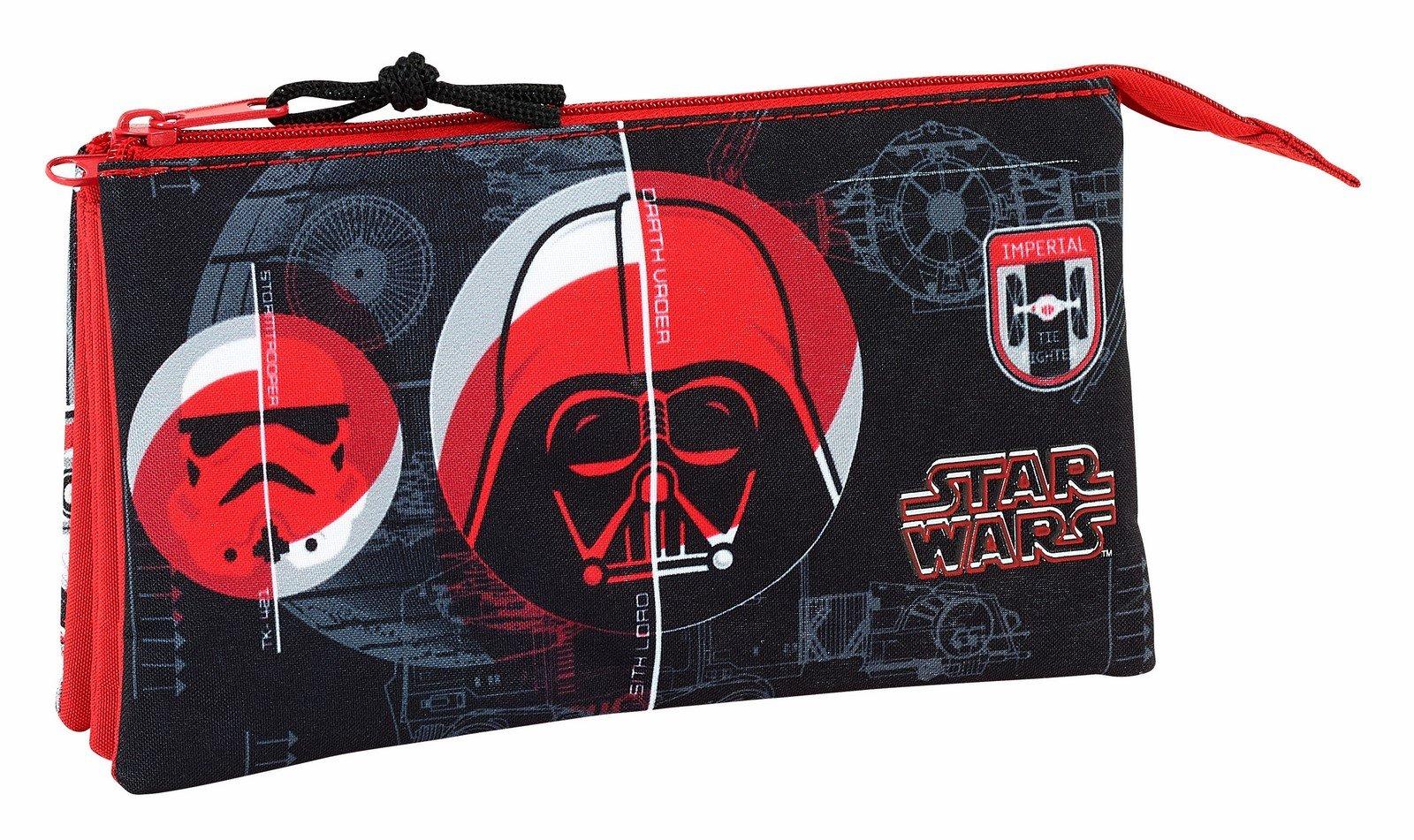 Safta Estuche Escolar Star Wars «Galactic Mission» Oficial 220x30x100mm