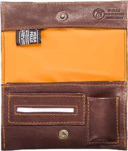 Pellein - Portatabacco in vera pelle Nurem - Astuccio porta tabacco, porta filtri, porta cartine e porta accendino. Handmade in Italy