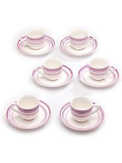 Porcellana Tognana Set 6 tazzine caff/è Vichy Red Rosso