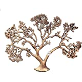 GIG Handicrafts Handmade Aluminium Nature Tree of Wisdom and Life Wall Hanging Art Decor Sculpture (60 cm x 3 cm x 46 cm, Gol