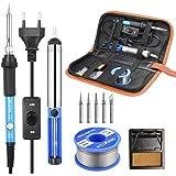 Soldeerbout Set, SREMTCH 60W / 220V Elektronische Soldeerbout Instelbare Temperatuur 200-450 ° C En AAN/UIT-Schakelaar, 100g