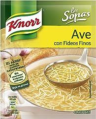 Knorr Sopa de Ave con Fideos Finos Sopa Deshidratada, 61g