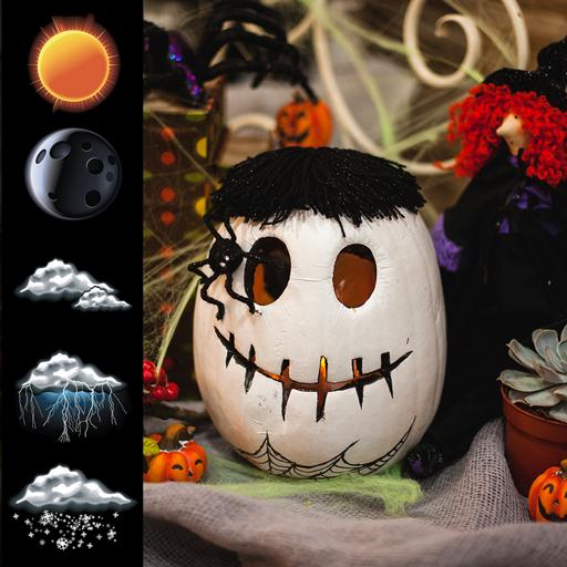 Halloween Uhr Wetter