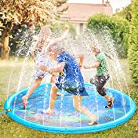 61 Splash and Sprinkle Water Play Toy for Kids Hawaiian Luau Party Supplies Decoration Outdoor Summer Fun for Backyard Garden Pool Magical Lighting Inflatable Palm Tree Sprinkler