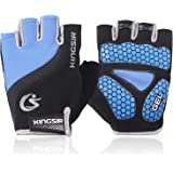 COOLOO Cycling Gloves Breathable Outdoor Bike Gloves for Men & Women Mountain Road Anti-slip Shock-absorbing Pad Gym MTB Half