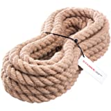 Seilwerk STANKE jute touw vezel naruurlijk gedraaid tuig heppeptuigage jute touwtrekken touw dat de reling scheidt 30mm 5m