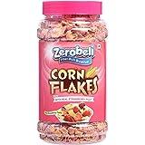 Zerobeli Real Strawberry Corn Flakes Jar 600 GM (Pack of 2x300g)
