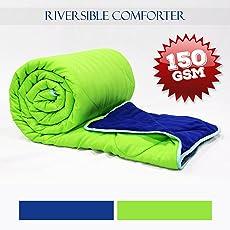 Divine Casa Polyester Single Comforter/Blanket/Quilt for All Weather-Stripe (150 GSM)