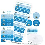 Pack 155 etiquetas personalizadas para marcar ropa y objetos. 100 Etiquetas de tela termoadhesiva + 55 etiquetas adhesivas de