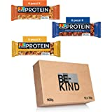 BE-KIND Protein Barretta Proteica, Confezione Mista in 3 Gusti diversi, Snack Proteico Senza Glutine, 12 gr di Proteine, 1 Co
