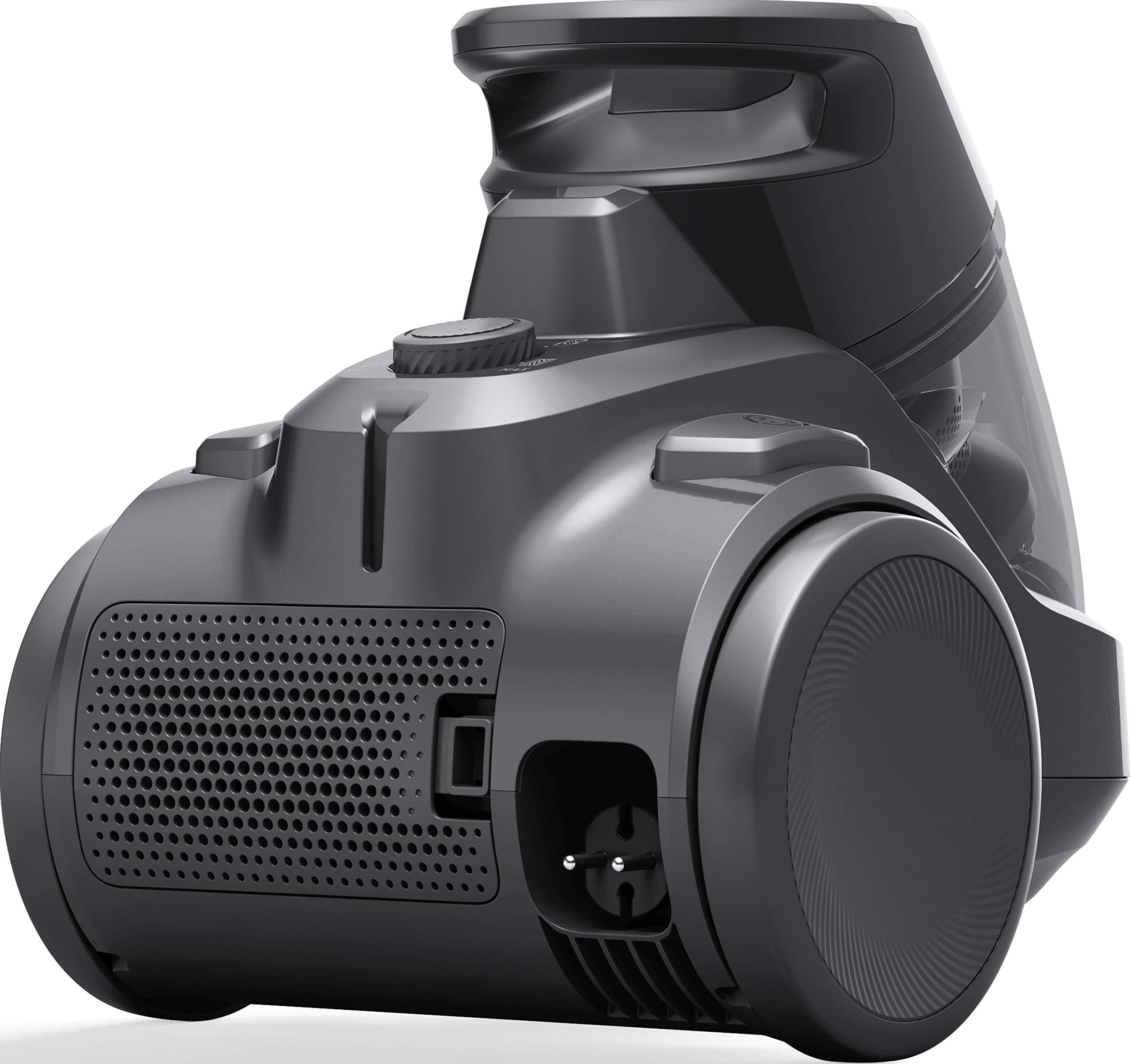 AEG LX5-2-4T Staubsauger ohne Beutel (1,8 l Staubbehälter, inkl. Zusatzdüsen, ergonomisches Design, große Räder, 4…