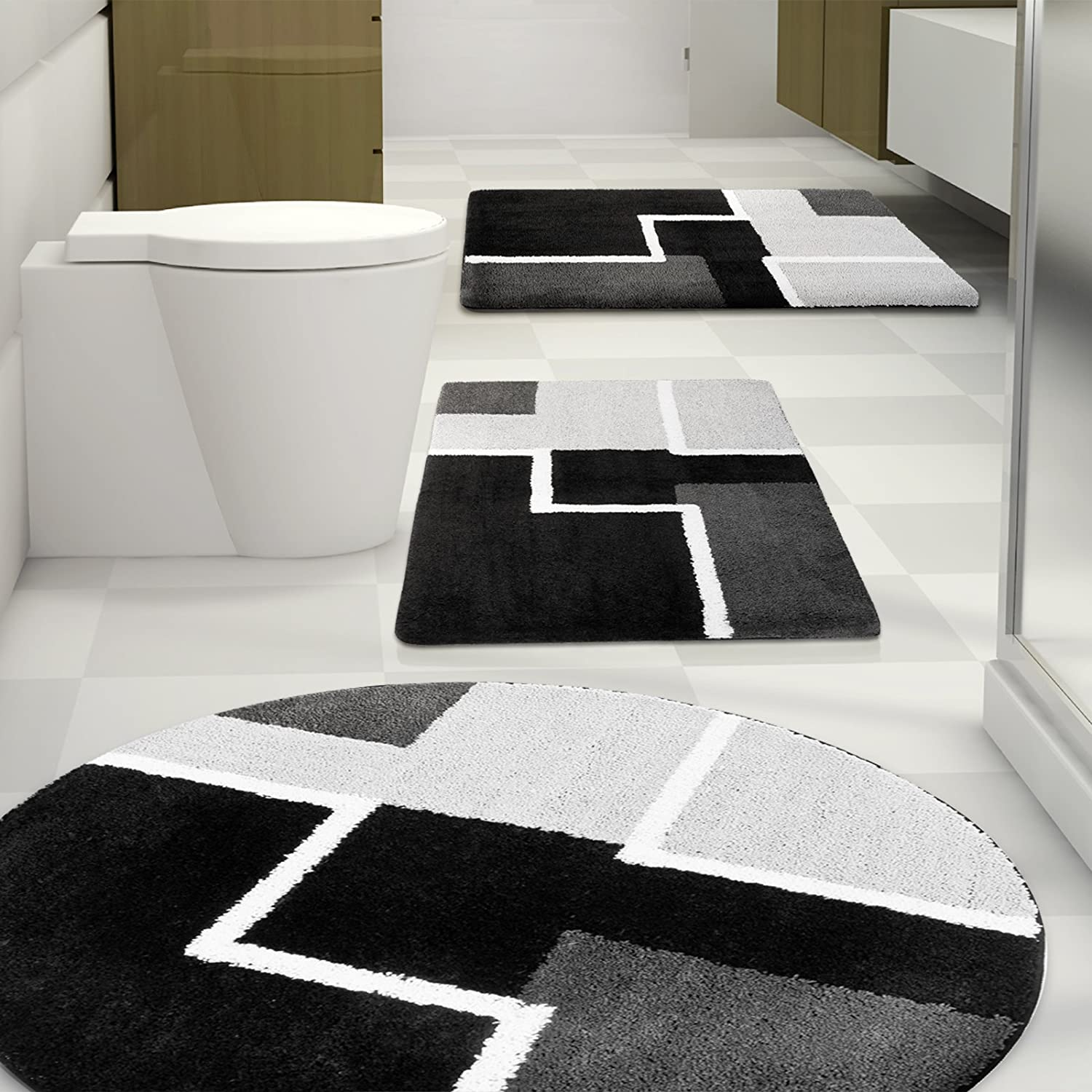 Tapis de cuisine rouge design for Tapis salle de bain design