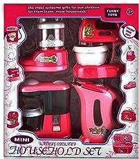 Saisan House Hold Play Set Mini Household 4 In 1 Set Kitchen Set - Pink