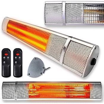 Sentik® Set Of 2   2000W Electric Wall Mounted Quartz Indoor Outdoor Garden Patio  Heater   3 Power Settings