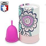 Docticup Docticup - Coupe Menstruelle - Made In France - Silicone Médical Hypoallergénique - Petite Cup - Avec Pochette De Rangement (Taille S: Maïa) Rose
