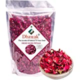 Dhawak Sun Dried Rose Petals - 100 GMS. (Gulab Patti)