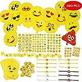THE TWIDDLERS 288 Emoji Smiley Mitgebsel Kinderparty Set & Deko Zubehör - für Piñata Füllstoffe, Kinder Geburtstags Party Bags - Taschen, Ballons, aufreizend, Armbänder & 3D Aufkleber