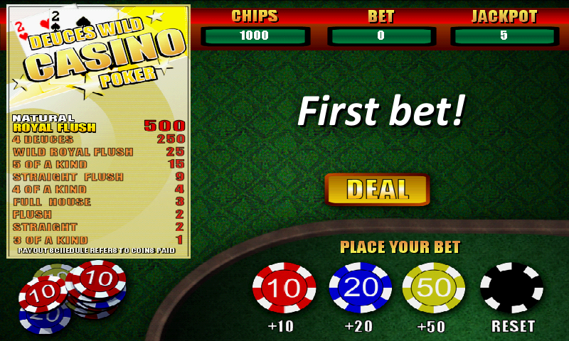 deuces wild casino poker free games